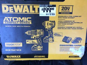 DeWalt brushless 20 V drill and driver set with two batteries and charger for Sale in Cupertino, CA