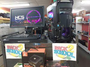 "☆RGB LIQUID COOLED GAMING TT VERSA N24 BUNDLE SETUP 24"" FULL HD 1080P MONITOR +Gaming Gear for Sale in Kennedale, TX"