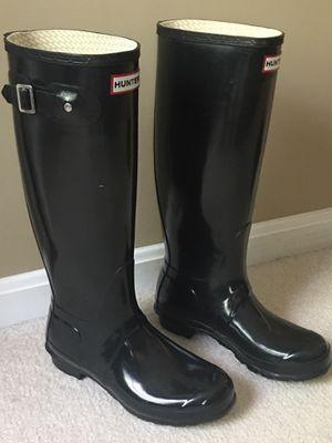 Hunter tall rain boots; size 8 for Sale in Springfield, VA