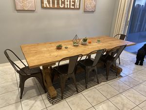 Farmhouse rustic table and chairs-seats 8 people, barstool optional for Sale in Sunrise, FL