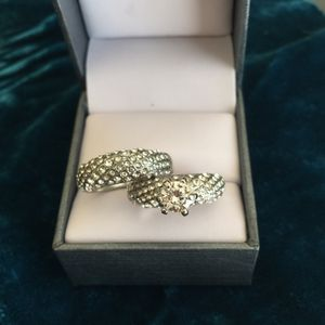 Sterling silver wedding engagement ring band set size 6 available casual jewelry for Sale in Silver Spring, MD