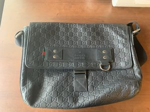 Gucci Black Leather Messenger Bag for Sale in Houston, TX