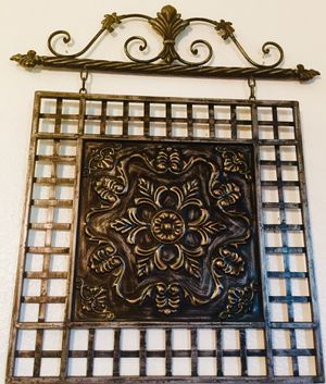 Cast wrought Iron metal wall art - H28xW24 inch for Sale in Chandler, AZ