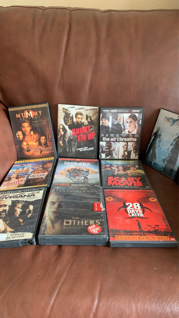 DVD Movie Lot Final Fantast 7 The Mummy Shoot Em Up Scary Movie Jackass EuroTrip Road Trip