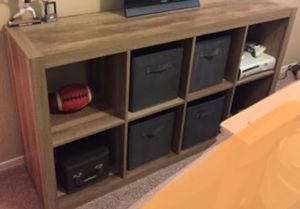 New!! Bookcase, Storage Unit,8 Cube Organizer,Shelving -Weathered for Sale in Phoenix, AZ