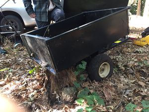 Tow behind lawn tractor utility trailer that dumps & has no flat tires!!! for Sale in Virginia Beach, VA