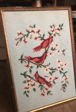 Three little birds framed Crosstitch for Sale in Spring, TX