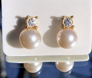 REDUCED Vintage Classic Drop Pearl Earrings/Diamond CZ accent for Sale in Raleigh, NC