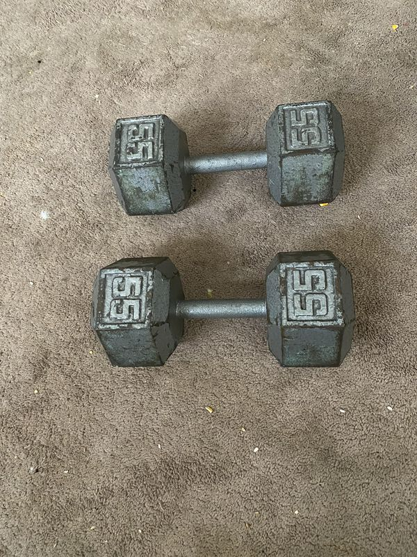 55 lb weights and Weight bench