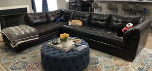 Leather sectional for Sale in Yucaipa, CA