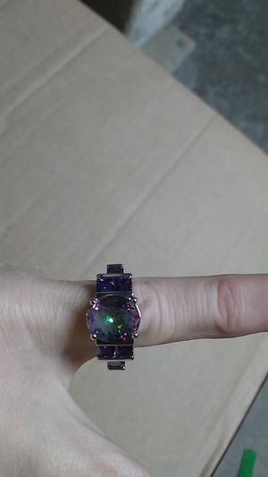 New mystic topaz and amethyst silver ring. Size 7 for Sale in Freeland, PA