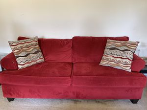 Red couch for Sale in Alexandria, VA