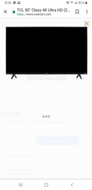 50 inch Tcl roku tv for Sale in Miami, FL