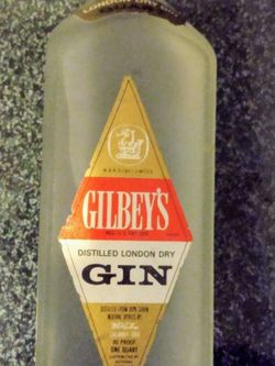 Vintage Frosted Bottle Gilbey's *Sealed* for Sale in Bell Gardens,  CA
