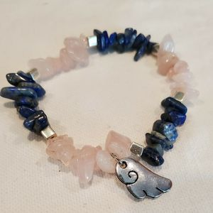 Rose Quartz & Lapis Lazuli Crystals Bracelet for Sale in Laveen Village, AZ