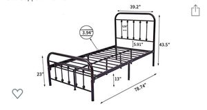 Metal bed twin size for Sale in Mebane, NC