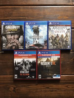 PS4 Games (Call of Duty, Star Wars, Assassins Creed, Resident Evil, Dying Light) for Sale in Freeville, NY