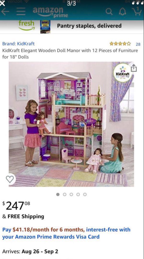 "KidKraft 18"" Dollhouse Doll Manor 👑"