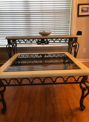 Glass and metal coffee and entry/ couch table for Sale in Palm City, FL