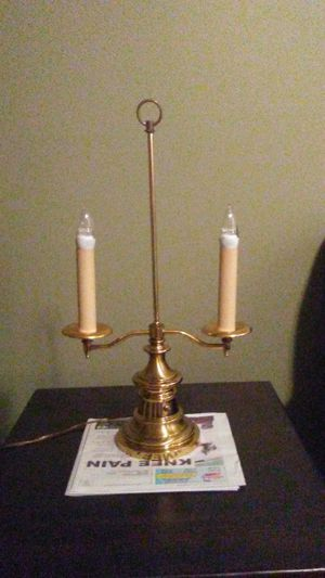 Vintage brass double candelabra lamp for Sale in Indianapolis, IN