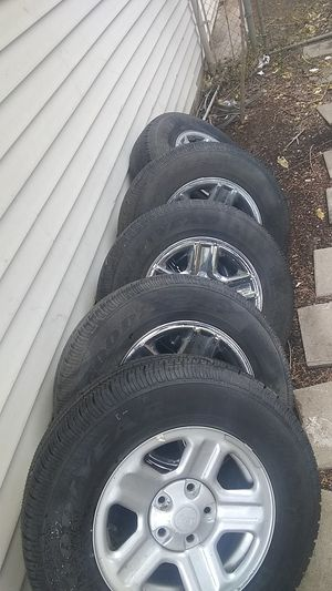 Jeep Wrangler Wheels,Good Year Tires, and New Spare for Sale in Fort Worth, TX