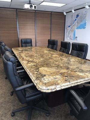 12 Ft. Custom Granite Conference Room Table Only for Sale in Houston, TX