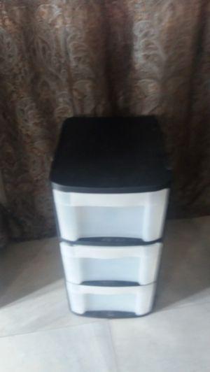 blk sterilite plastic 3 drawer storage for Sale in Pompano Beach, FL