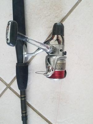 Bass pro Power plus Fishing rod with sidestab 2500 reel for Sale in Deerfield Beach, FL