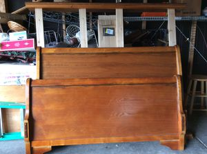 Wood bed frame full for Sale in Beech Grove, IN