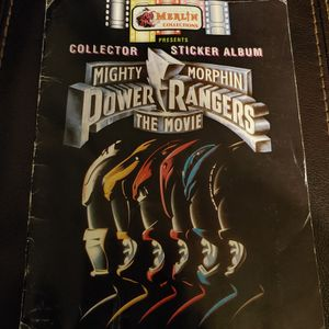 Mighty Morphin Power Rangers the Movie Sticker Collector Album By Merlin for Sale in Hawthorne, CA