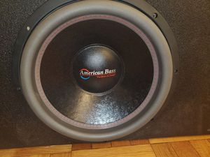 15INCH AMERICAN BASS HD 3000WATTS subwoofer IN A Q-BOMB VENTED BOX for Sale in Yonkers, NY