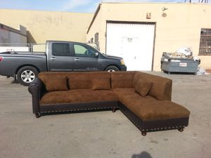NEW 9X7FT BROWN MICROFIBER COMBO SECTIONAL COUCHES for Sale in Buena Park, CA