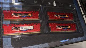 G.SKILL RIPJAWS 16gb (4 x 4GB) DIMM DD4 3300 (PC4-26400) Memory CL-16-18-18-38 (F4-3300C16Q-16GRRD) for Sale in Turlock, CA
