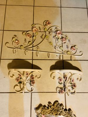 Iron shabby chic decor 3 pieces for Sale in Lathrop, CA
