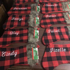 Custom Christmas Stockings And Hats for Sale in Conyers, GA