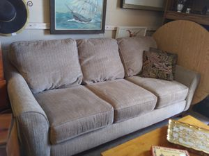 Very nice and clean sofa gray/tan color for Sale in Pinellas Park, FL