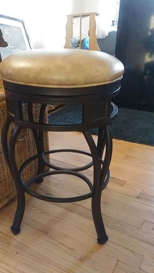 Metal and faux leather bar stool for Sale in Forest Grove, OR