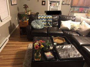 Large Comfy Sectional and Ottoman for Sale in Brentwood, TN