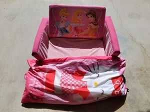 Princess couch and large Hello Kitty Pillow $8 for Sale in Bakersfield, CA
