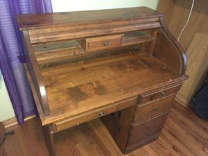 Dark Oak desk for Sale in Silver Spring, MD