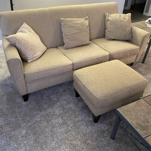 Light Tan Couch With Ottoman for Sale in Thornton, CO