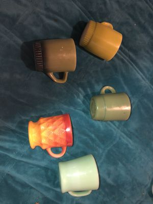 Set of 5 fire king coffee mugs for Sale in Saint James, MO