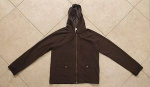 Womens Ann Taylor LOFT Long Sleeve Zip Hoodie Jacket Size L Brown for Sale in Shady Hills, FL