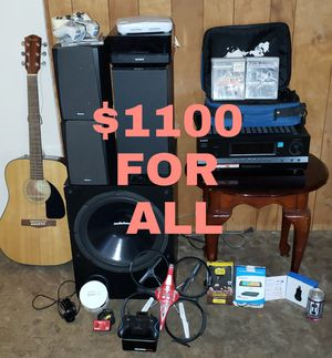 Ps3, ps1 ,audio system, gear2 men watch, receiver, acoustic guitar, drone,retro games,and more for Sale in Seattle, WA
