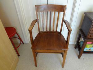 Vintage Desk / Lawyer's / Banker's Oak Chair c. 1950 for Sale in Atlanta, GA