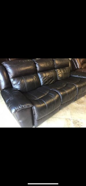 Leather recliner Couch 🛋 for Sale in New Port Richey, FL