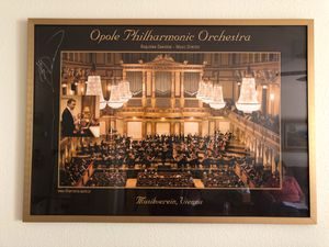 Poster Of The Philharmonic In Opole-Poland with autograph Of Boguslaw Dawidow for Sale in Santa Barbara, CA