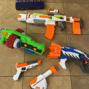Lot of 4 Nerf Guns & Target Game for Sale in Queen Creek, AZ