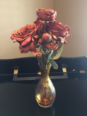 Crate and barrel artificial flower n vase for Sale in Fontana, CA