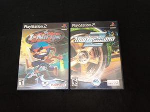 PS2 I-Ninja and Need For Speed Underground 2 for Sale in Tampa, FL